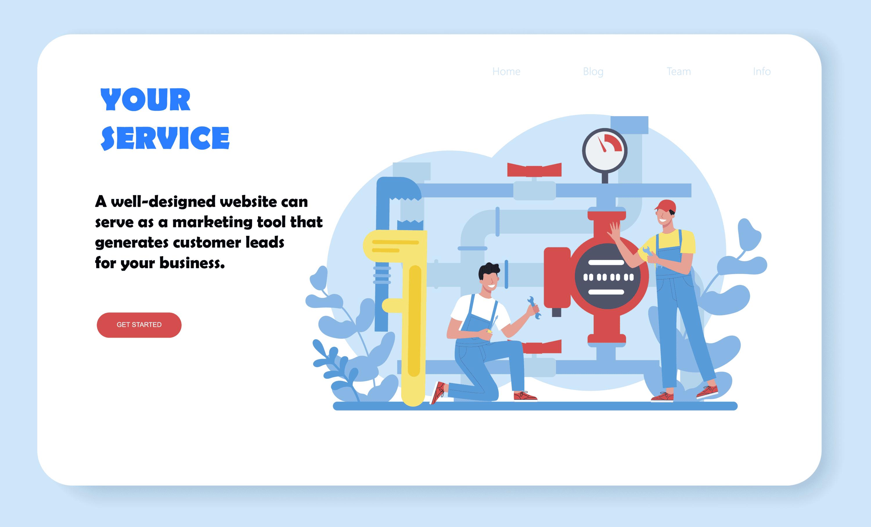 Service website example